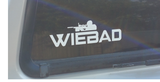 Small 6x2 inch WieBad sticker, One ships free with an order,additional decals are $1.00