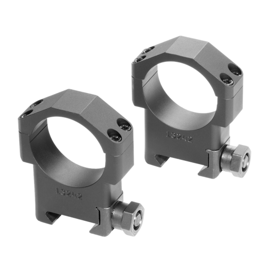 The Badger Ordnance 34mm High Scope Rings are optimized for use on most precision rifles with heavy contour barrels or those mounted in chassis systems. They are machined from 6061 Alloy and Mil Spec Type III Hardcoat Anodized.