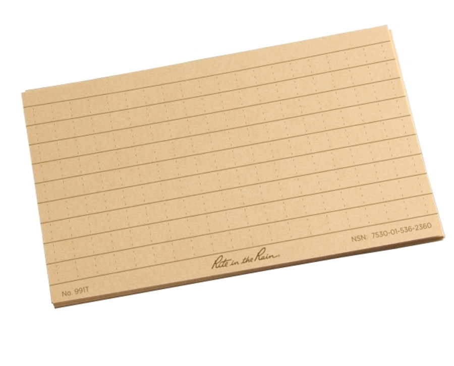 Index Cards Tan 3 in x 5 in