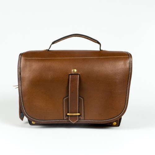 Fogg Satchmo Leather Bag Brown