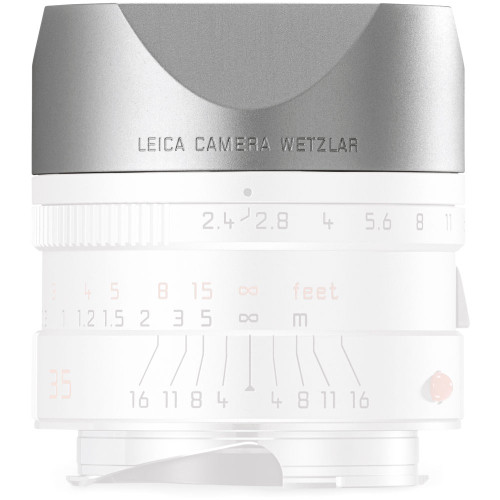 Leica Hood for 35mm f/2.4 and 50mm f/2.4, Silver