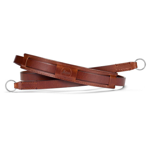 Leather neck strap for the Leica CL camera, in brown.