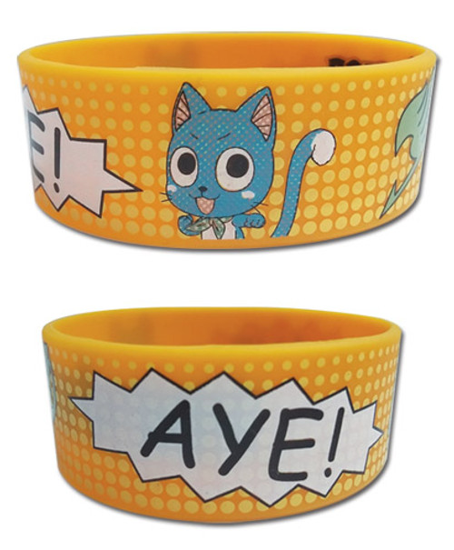 Fairy Tail - Comic Book Happy Pvc Wristband 5419018BAS
