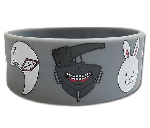 Tokyo Ghoul - Ghoul Masks Pvc Wristband 5423618BAS