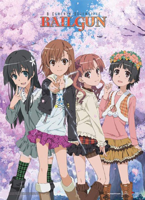 A Certain Scientific Railgun - Mikoto & Friends Wallscroll 6020618BAS