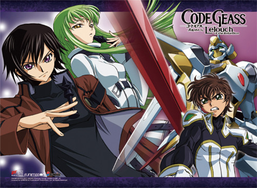 Code Geass - Lelouch & Suzaku & Cc Wall Scroll 8677818BAS