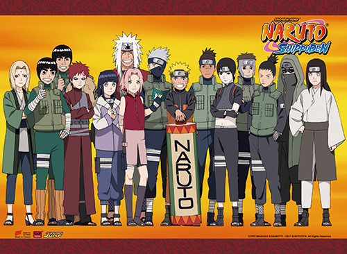 Naruto Shippuden - Character Group Wall Scroll 8672218BAS