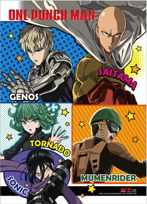 One Punch Man - Group 2 Wall Scroll 8668418BAS