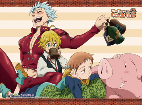 The Seven Deadly Sins - Group Wall Scroll 8667018BAS