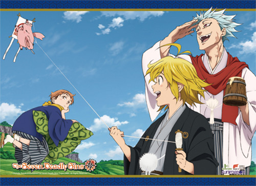 The Seven Deadly Sins - Japanese Style Group Wall Scroll 8667118BAS
