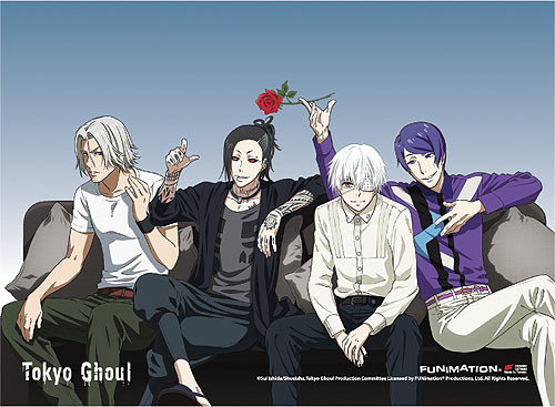 Tokyo Ghoul - Group 06 Fabric Poster 7968018BAS