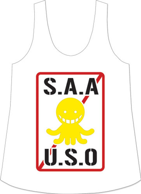 Assassination Classrom - Saauso Logo Tank Top L 83496318BAS