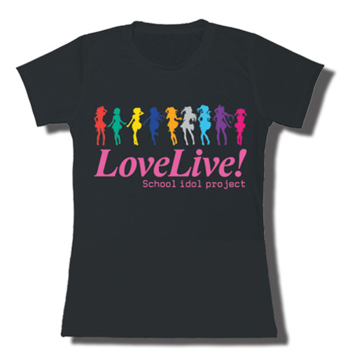 Love Live - Muse Colored Silhouettes Jrs. T-Shirt L 83062318BAS