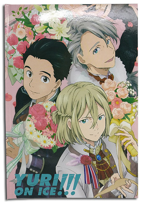 Yuri On Ice!!! - Group Flowers Journal Hardcover Notebook 4368918BAS