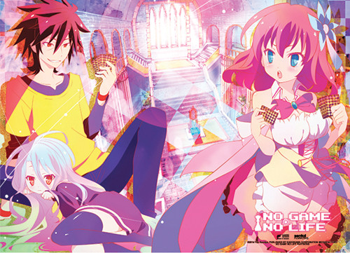 No Game No Life - Playing Cards Fabric Poster 7935518BAS