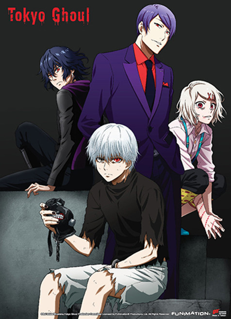 Tokyo Ghoul - Group 02 Fabric Poster 7956918BAS