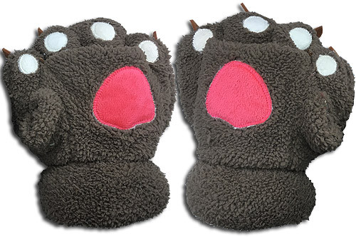 Great Eastern - Brown Paw Plush Gloves 3002318BAS