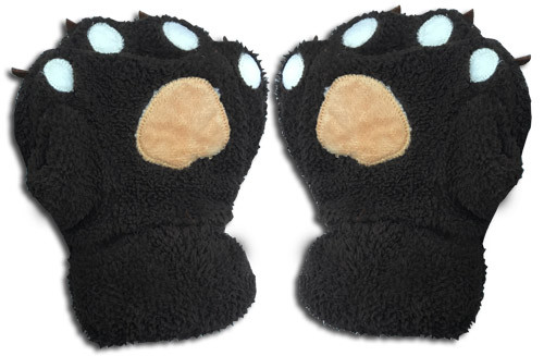 Great Eastern - Dark Brown Paw Plush Gloves 3002218BAS