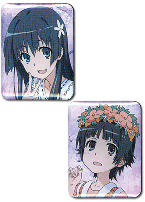 A Certain Scientific Railgun - Saten & Uiharu Pin Set 5012718BAS