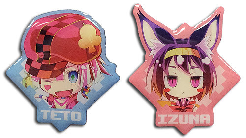No Game No Life - Izuna & Teto Metal Pins 5058018BAS
