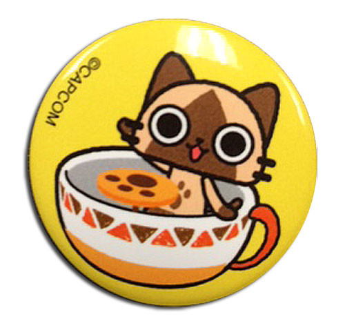 Airou From The Monster Hunter - Airou Teacup Button 1699618BAS