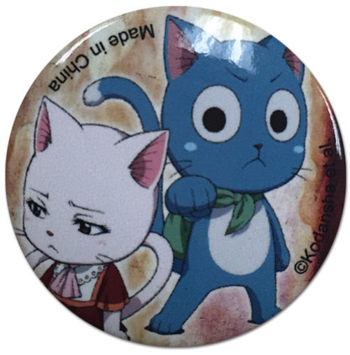 Fairy Tail - Carla And Happy Button 1678318BAS