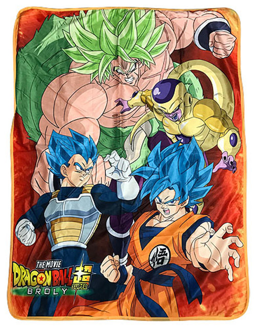 Dragon Ball Super Broly - Group Sublimation Throw Blanket 7610918BAS