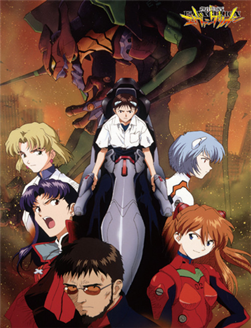 Evangelion - Group In City Sublimation Throw Blanket 5777618BAS