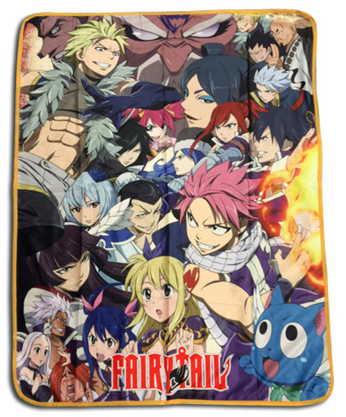 Fairy Tail - Big Group Sublimation Throw Blanket 5782418BAS