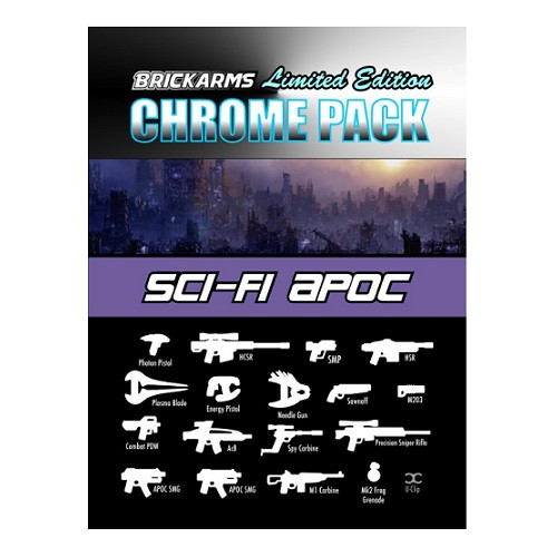 BrickArms CHROME SciFi Apoc Limited Edition Weapon Pack