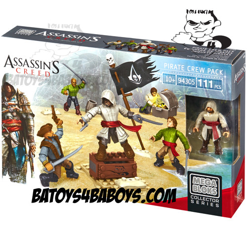 Mega Bloks ASSASSIN'S CREED Pirate Faction Battallion Pack, a featured ASSASSIN'S CREED Mega Bloks CONSTRUCTION SET.
