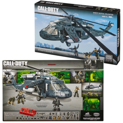 Mega Bloks CALL OF DUTY Ghosts Tactical Helicopter [Heavy Lift Copter], a featured CALL OF DUTY Mega Bloks CONSTRUCTION SET.