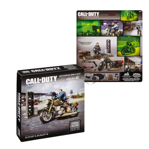 Mega Bloks CALL OF DUTY Motorbike Breakout, a featured CALL OF DUTY Mega Bloks CONSTRUCTION SET.