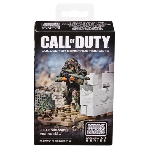 Mega Bloks CALL OF DUTY Ghilly Suit Sniper, a featured CALL OF DUTY Mega Bloks CONSTRUCTION SET.