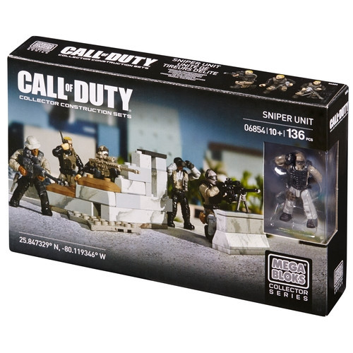 Mega Bloks CALL OF DUTY Sniper Unit, a featured CALL OF DUTY Mega Bloks CONSTRUCTION SET.