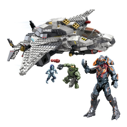 Mega Bloks HALO WARS UNSC Broadsword Midnight [Master Chief, Cortana & Didact!], a featured HALO WARS Mega Bloks CONSTRUCTION SET.