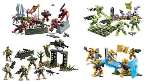 Mega Bloks HALO WARS B.A. Toys Fireteam Reinforcement [Crimson, Venom, Eagle & Sierra], a featured HALO WARS Mega Bloks CONSTRUCTION SET.