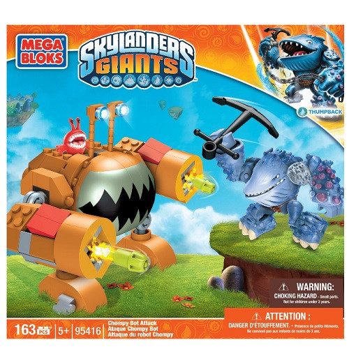 Mega Bloks SKYLANDERS GIANTS Chompy Bot Attack [Thumpback - Water Giant], a featured SKYLANDERS GIANTS Mega Bloks CONSTRUCTION SET.