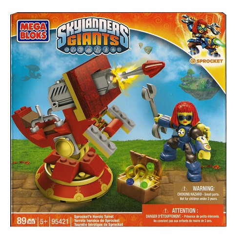Mega Bloks SKYLANDERS GIANTS Sprocket's Heroic Turret, a featured SKYLANDERS GIANTS Mega Bloks CONSTRUCTION SET.