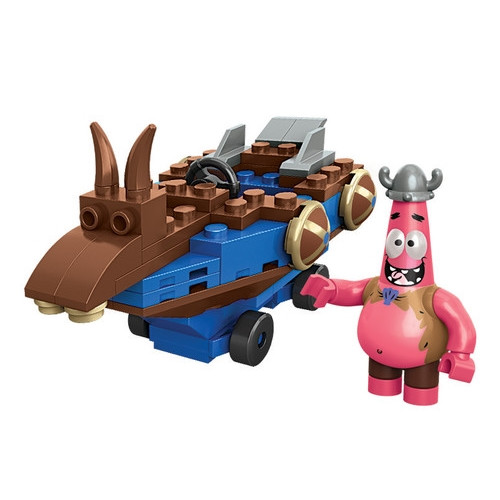 Mega Bloks SPONGEBOB SQUAREPANTS Patrick Racer, a featured SPONGEBOB SQUAREPANTS Mega Bloks CONSTRUCTION SET.