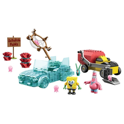 Mega Bloks SPONGEBOB SQUAREPANTS Invisible Boatmobile Rescue, a featured SPONGEBOB SQUAREPANTS Mega Bloks CONSTRUCTION SET.