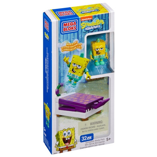 Mega Bloks SPONGEBOB SQUAREPANTS SpongeBob Wacky Pack, a featured SPONGEBOB SQUAREPANTS Mega Bloks CONSTRUCTION SET.