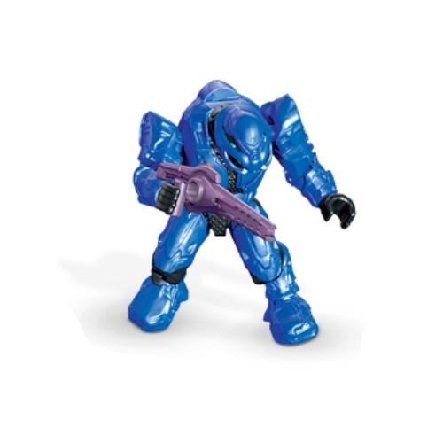 Mega Bloks HALO WARS Covenant Elite [Blue] Commando & FOCUS RIFLE Loose Micro Action Figure, a featured HALO WARS Mega Bloks Minifigure plus Weapon.
