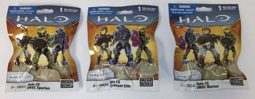 Mega Bloks HALO WARS 2011 CE Minifigs Set of 3, a featured HALO WARS Mega Bloks CONSTRUCTION SET.