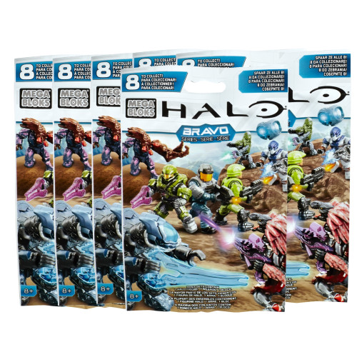 Mega Bloks HALO WARS BRAVO Series SIX [6] Pack Bundle of Mystery Figure Packs, a featured HALO WARS Mega Bloks CONSTRUCTION SET.