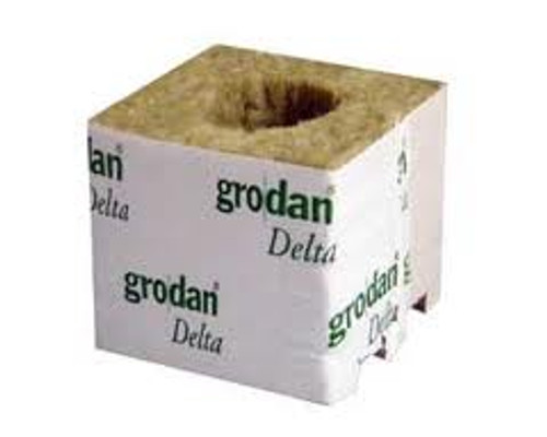 GRODAN - ROCKWOOL CUBE DELTA 10 WITH HOLE