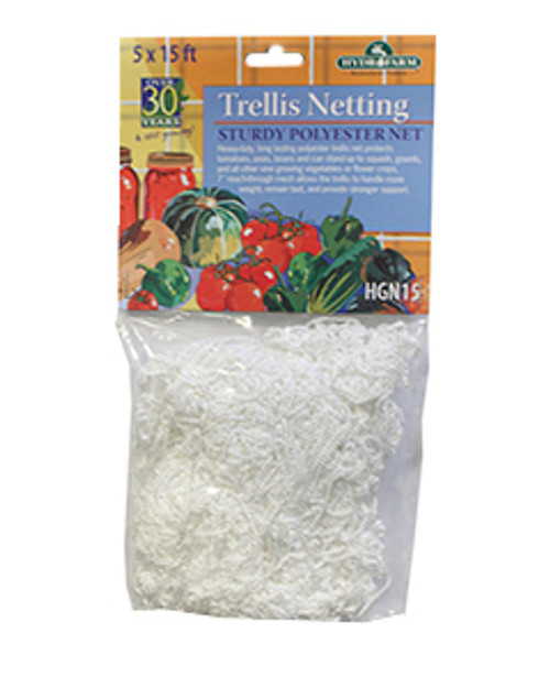 HYDROFARM TRELLIS NYLON NETTING 6IN MESH 5FT X 15FT