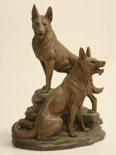 German Shepherd Louis-Albert Carvin Sculpture
