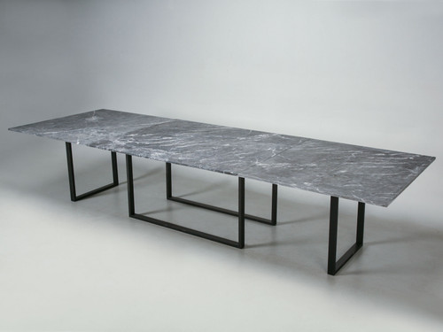 Custom Old Plank Steel Table Base, Any Dimension or Material Main