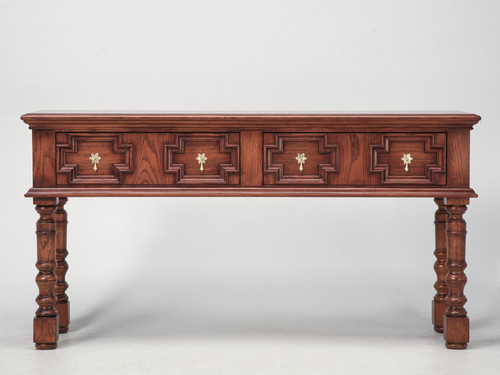 Traditional English Style Console Table Front
